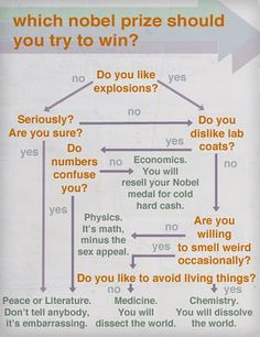Which Nobel Prize should you try to win? Lol looks like I chose the right major :P go Physics!