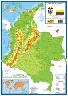 Mapa físico de Colombia Military Insignia, Mobile Wallpaper, Art Sketches, Travel, Seals, Joseph, Tumbler, Angel, Socialism