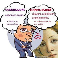 concussione/conclusione