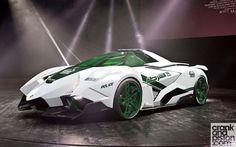 Lamborghini Egoista. The Latest Dubai Police Supercar | http://www.crankandpiston.com/shot-of-the-day/lamborghini-egoista-the-latest-dubai-police-supercar/