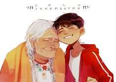 Miguel Rivera and his great grandmother, Mama Coco from Coco
