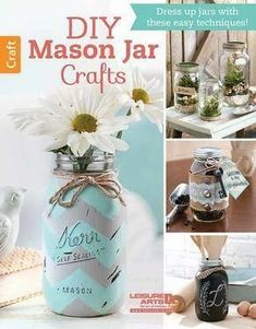 $5.99 · With a few crafty touches, you can turn ordinary jars and bottles into charming home accessories, cute gift containers, clever keepsakes, and helpful organizers. All you need is a little paint, some jute or burlap, labels or tags, or other trims. Easy projects in DIY Mason Jar Crafts include Terrariums, a Storage Shelf with hanging jars, a monogrammed Kitchen Storage jar, glittery Tablescape Jars, a Travel Savings Jar, Beach Memory Jar, Sand Collection Bottle, Ship in a Bottl..