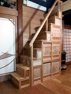 階段タンス建具製作風景:こだわりの建具・指物を 豊橋市松井建具店