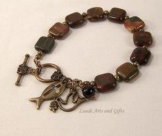 Rosary Bracelet Holy Spirit Picasso Jasper by LaudeArtsandGifts, $19.99