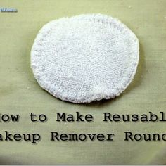 How to Make Reusable Makeup Remover Pads - Claudia Sarrazin - How to Make Reusable Makeup Remover Pads I use disposable face wipes when I travel for the convenience but once I'm out I forget to buy more until the next time I go on a trip. Deep Cleaning Tips, House Cleaning Tips, Spring Cleaning, Cleaning Hacks, Homemade Toilet Cleaner, Clean Baking Pans, Cleaning Painted Walls, Glass Cooktop, Thing 1