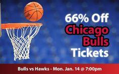$29 (66% off) Chicago Bulls Tickets vs Atlanta Hawks Mon. Jan. 14 @ 7:00pm - Crowd Seats Cheap Sports Tickets