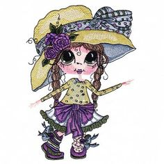 A fun friend for your project! Cute Images, Cute Pictures, Free Machine Embroidery Designs, Embroidery Ideas, Reading Pillow, Beautiful Fairies, Big Eyes, Cartoon Characters, Folk Art