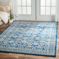 nuLOOM Traditional Persian Vintage Dark Blue Rug (7'10 x 10'10) - 17071627 - Overstock Shopping - Great Deals on Nuloom 7x9 - 10x14 Rugs