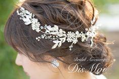 小枝アクセサリー silver/gold ~ブライダルヘッドドレス~ ≪HV-07≫ | DisMoi ディモア| ブライダルアクセサリー / ウェディングアクセサリー Bridal Accessories, Wedding Hairstyles, Wedding Hair Half, Wedding Hair Styles, Bridal Hairstyles, Wedding Hairs, Wedding Accessories, Wedding Hairstyles Side, Wedding Updo
