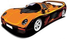 fine sports car 02 vector