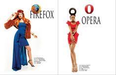 Viktorija Pashuta Fashion Photographer: What If Girls Were Internet Browsers - Fashion Editorial