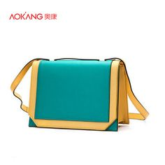 Find More Top-Handle Bags Information about 6th July Only $39.99   Aokang 4Colors Green/Red/Blue/Yellow Genuine Leather Women Shoulder Bags,High Quality bag bra,China handbag storage Suppliers, Cheap handbag organizers from Aokang Flagship Store on Aliexpress.com