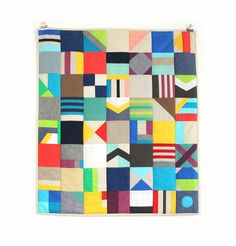 """mixed fabric mini quilt"""