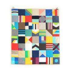 """Mixed Fabric Mini Quilt"" by Julie Pinzur of Zipper Teeth."