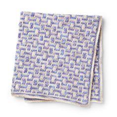 Bernat Mosaic Crochet Blanket