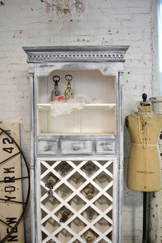 Painted Cottage Chic Shabby Farmhouse Cabinet by paintedcottages