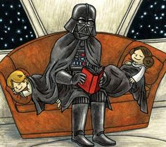 "gffa: ""Darth Vader & Son + Vader's Little Princess Illustrated by Jeffrey Brown "" Star Wars Meme, Star Wars Comics, Star Wars Fan Art, Geeks, Star Wars Party Games, Darth Vader And Son, Star Wars Classroom, Star Wars Birthday, Love Stars"