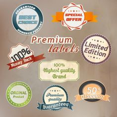 Free vector about free vector label design