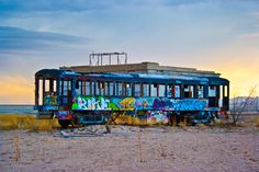It's the Graffiti train to nowhere. Destination unknown; duration unknown either.