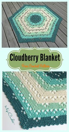 Lace Cloudberry Blanket Free Crochet Pattern