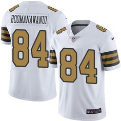 Youth Nike New Orleans Saints #84 Michael Hoomanawanui Limited White Rush NFL Jersey