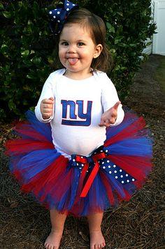 NY Giants Superbowl Tutu Set CANT Take Any by BlissyCoutureTutus, $40.00