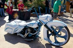 Joey Hensley, owner of Backyard Baggers in Winston-Salem, North Carolina, customizes a Road King to within an inch of its life.