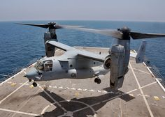 ARABIAN SEA (July 14, 2012) An MV-22 Osprey aircraft assigned to Marine Medium Tiltrotor Squadron (VMM) 261 (Reinforced) takes off from the flight deck of the amphibious transport dock ship USS New York (LPD 21). New York is part of the Iwo Jima Amphibious Ready Group with the embarked 24th Marine Expeditionary Unit and is deployed in support of maritime security operations and theater security cooperation efforts in the U.S. 5th Fleet area of responsibility. US Navy