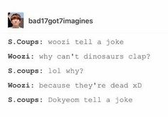 Am I the only one that enjoys Woozi's joke