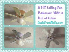 A DIY Ceiling Fan Makeover With a Dot of Color - DealsFromMsDo.com