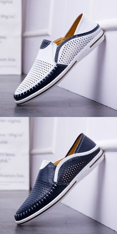 Prelesty Soft Light Men Cow Leather Loafer Shoes Smart Formal Handmade Stitching – Prelesty – Join in the world of pin Leather Loafer Shoes, Loafers Men, Leather Sandals For Men, Suede Shoes, Men's Shoes, Dress Shoes, Shoes Sport, Shoes Men, Mocassins Cuir