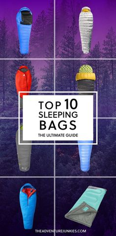 Top 10 Best Backpacking Sleeping Bags – Best Camping Gear – Hiking Gear For Beginners – Backpacking Equipment List for Women, Men and Kids