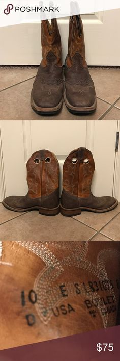 Boulet Men's Cowboy Boots Barely worn, square toe, cowboy boots men's size 10 Boulet Shoes Cowboy & Western Boots