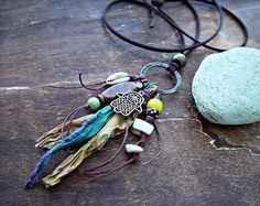 Boho Hippie Necklace Boho Jewelry Boho Gypsy by HandcraftedYoga