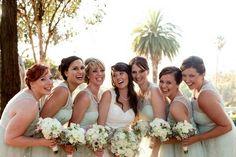 bridesmaids in mint green lace - lovely colour for a beach/summer wedding Green Wedding, Spring Wedding, Diy Wedding, Wedding Favours, Wedding Bells, Wedding Ideas, Elegant Wedding Dress, Bridal Wedding Dresses, Bridesmaid Inspiration