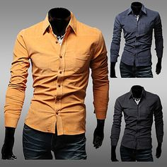 Corduroy Long Sleeve Collared Shirt . Shop Now At  http://sneakoutfitters.com/collections/new-in/products/ao-csbc-hw-c98-so45