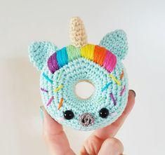 Unicorn Donuts PDF Pattern amigurumi crochet