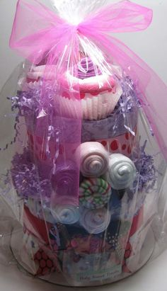 So Sweet Diaper Caketm with Diaper Cupcakes by BabySweetTreats