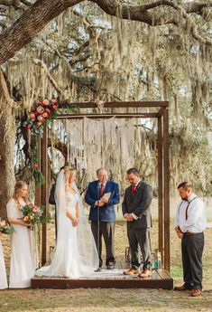 Krysten & Jack's Boho Winter Wedding Boho Wooden Wedding Ceremony Arbor with Macrame Backdrop. Photo by Dewitt for Love Photography. Rustic Boho Wedding, Bohemian Wedding Decorations, Orange Blossom Wedding, Floral Bridesmaid Dresses, Boho Flowers, Florida Wedding Venues, Princess Wedding Dresses, Wedding Gowns, Wedding Blog
