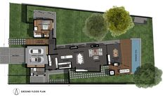 4 Bedroom Contemporary House Plan - CN444AW - Plans123 House Plans Online, Best House Plans, Contemporary House Plans, Contemporary Bedroom, Building Costs, Building Design, Built In Braai, National Building, Entrance Foyer
