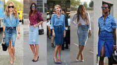 Feirinha Chic : Chic com:Saia jeans