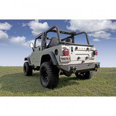 XHD Rear Bumper; 76-06 Jeep CJ/Wrangler YJ/TJ