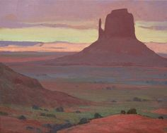 """Monument,"" Glenn Dean, oil on canvas – Midnight Rider Western Landscape, Landscape Art, Landscape Paintings, Landscapes, Art Zine, Southwestern Art, Desert Art, Traditional Paintings, Paintings I Love"