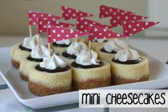 mini cheesecakes... omg these look adorable!