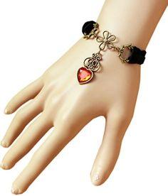 #Red #Rhinestone Lace Bracelet By @ReturnFavors