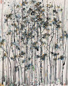 vinteuil:  Wu Guanzhong (吴冠中) - Pine Forest (松林) (1987)