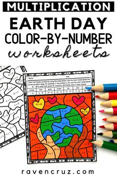 Get these Earth Day multiplication color-by-number worksheets to treat your students this April. They are perfect for 3rd-grade and 4th-grade math students. #mathwithraven Earth Day Activities, Math Activities, Multiplication Facts Practice, Common Core Math Standards, Number Worksheets, Third Grade Math, Homeschool Math, Elementary Math, Math Resources