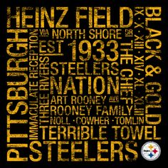 Pittsburgh Steelers Square Subway Art Picture at Pittsburgh Steelers Photo Store