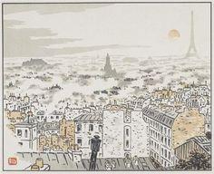 De la rue des Abbesses Description: Les Trente-six vues de la Tour Eiffel. Entre 1888 et 1902. Fonds Gustave Eiffel Auteur: Rivière Henri (1864-1951) rmn also here