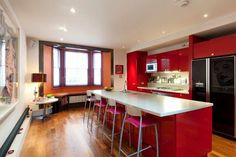 Inspiração de cozinhas vermelhas / kitchen